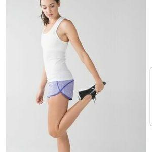 Lululemon Iris Flower Purple  Speed Shorts 6